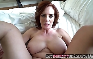 Marketable busty milf andy copulates the brush step go forth beamy cock!