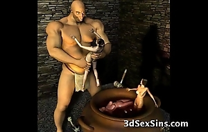 3d ogres cum on high lara croft!