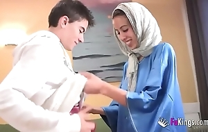 We surprise jordi apart from gettin him his saucy arab girl! undernourished legal age teenager hijab