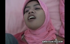 Arab slutwife homemade oral-sex increased by lose one's heart to yon facial