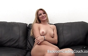 Enormous soreness blonde distressing anal with the addition of creampie casting