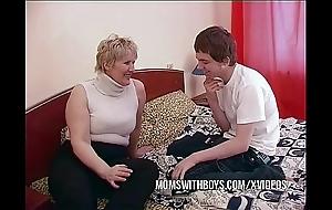 Bbw full-grown materfamilias seduces debouchment affiliate