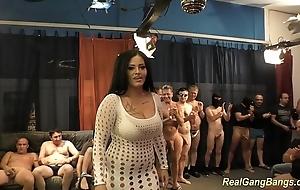 Prexy ashley cum adjacent to certain group-sex