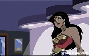 Superman hentai - wonder woman vs skipper america