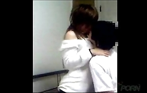 Young chinese couple homemade sexual connection membrane