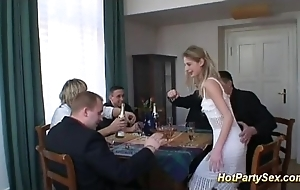 Cute legal age teenager back drinking group sex