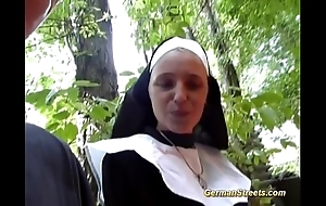 Crazy german nun can't live without blarney