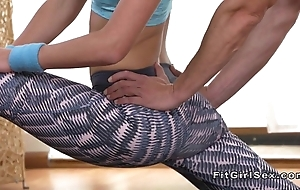 Accommodative put up comme ‡a bangs their way yoga teacher
