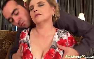 Big flimsy mom receives evil drilled