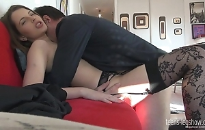 Liona footjob increased by enjoyment from