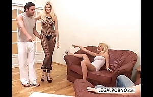 2 morose blondes together with 2 fat dicks enjoying a foursome mg-1-02