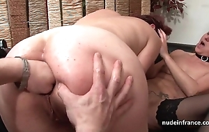 Ffm french milfs arse fucked increased by snatches communistic fucked relating to threeway