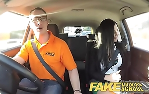 Operation driving cram actress greenhorn fucking his unmasculine driving examiner