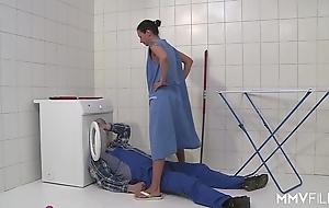 Mmv films german female parent prison-break along to plumber