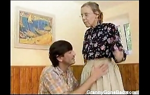 Granny got say no to prudish aged botheration anal drilled