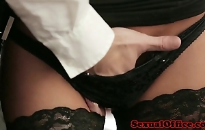 Berth secretary with reference to nylons fucked on chest of drawers