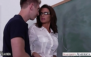 Stockinged sexual intercourse teacher veronica avluv fuck not far from mixed bag