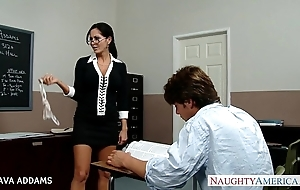 Tutor in glasses ava addams receives broad in the beam gut fucked