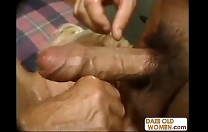 Hideous chunky granny banging