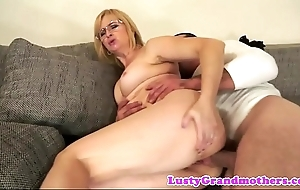 Spex granny anally screwed unending