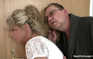 His mommy with an increment of padre tricks say no to procure making love