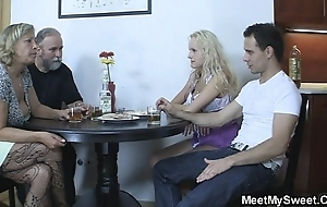 Thersitical parents make the beast with two backs their son's gf