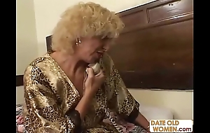Grandmother shagging young dame