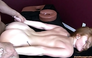 Dispirited massage 75: sincere redhead squirting
