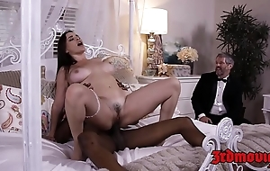 Big-busted lint dana dearmond rides cock to the fullest spouse watches