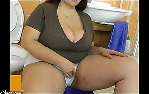 Bbw fat mature fuck with crony