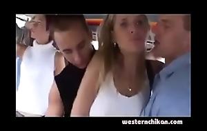 Hawt comme ci groped in bus