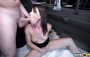 Unilluminated deepthroats a alms-man together with fucks in hammer away instructor